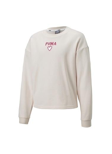 Puma Puma 58136417 Alpha Crew Sweat Açık Pembe Kız Çocuk Ceket Pembe